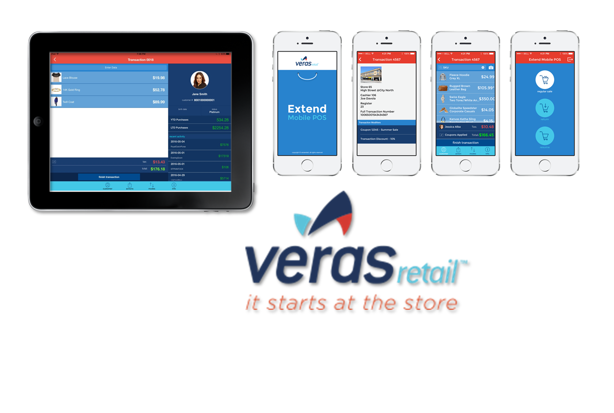 Veras Extend on Tablet and Smartphone, iOS and Android