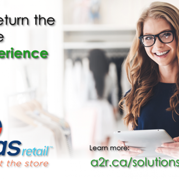 Young femal retail store associate using Veras Retail Checkout on an iPad